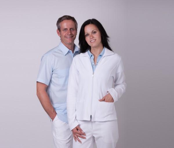 Job Miloty® Damen-Fleecejacke weiß