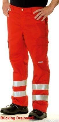 Bücking dreinaht® Einsatz-Hose 2000 rot