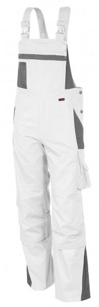 Qualitex - Pro Latzhose weiß-grau