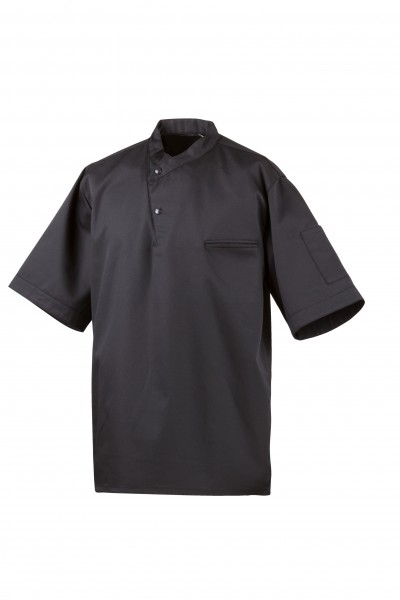 Exner Kochhemd in schwarz, halber Arm
