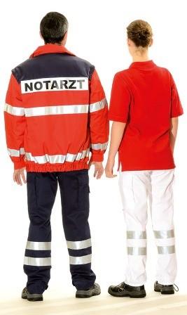 Bücking dreinaht® Einsatz-Anorak rot - Rücken