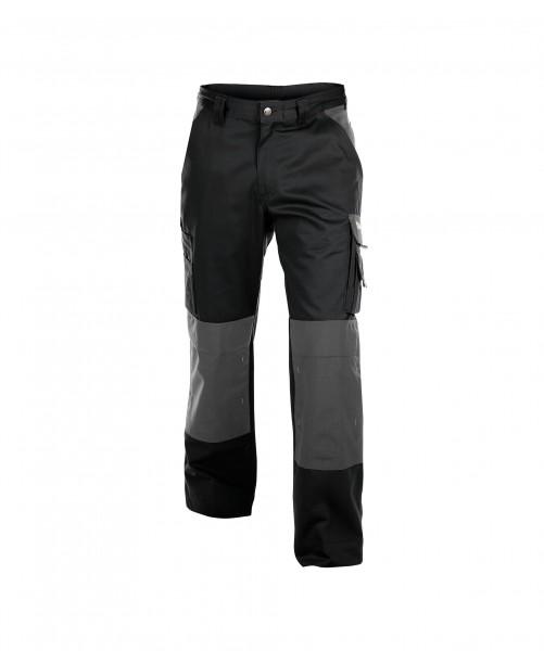 DASSY Boston Zweifarbige Bundhose mit Kniepolstertaschen schwarz/grau - Front