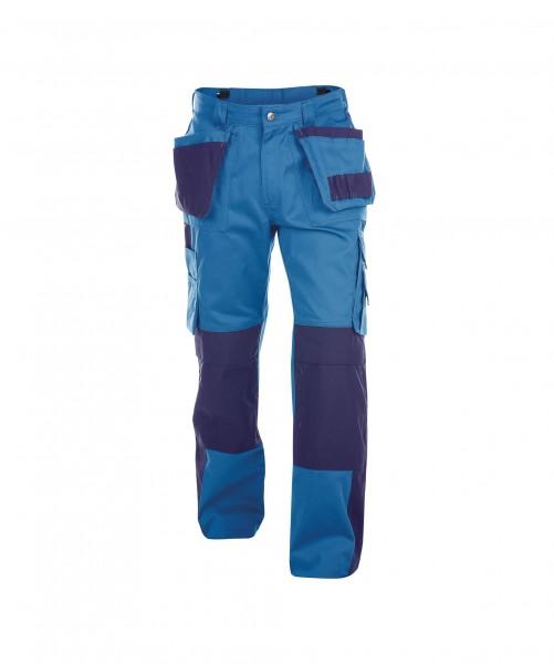 DASSY Seattle Multitaschen-Bundhose mit Kniepolstertaschen kornblau/dunkelblau - Front