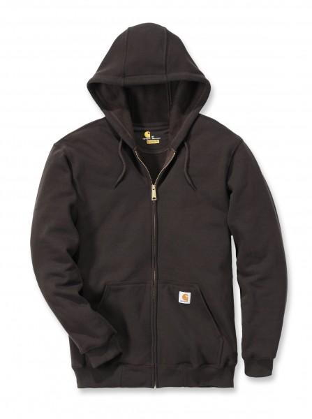 Carhartt Midweight Hooded Zip Front Sweatshirt in dunkelbraun
