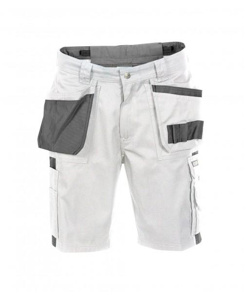 DASSY Monza Multitaschen-Shorts weiß/grau - Front