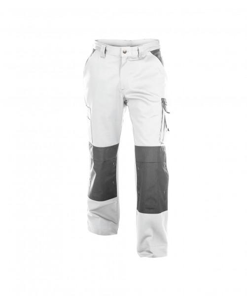 DASSY Boston Zweifarbige Bundhose mit Kniepolstertaschen weiß/grau - Front