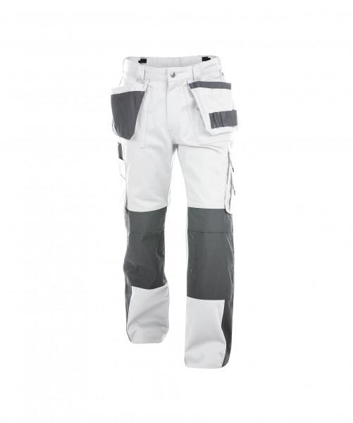 DASSY Seattle Multitaschen-Bundhose mit Kniepolstertaschen weiß/grau - Front