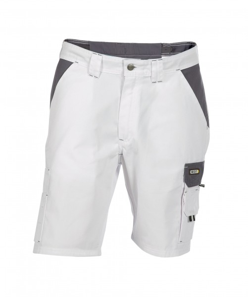 DASSY Roma zweifarbige Shorts weiß/grau - Front