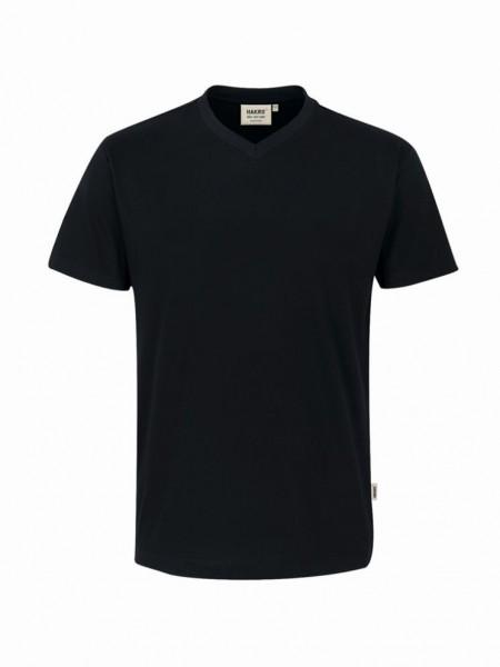 HAKRO® V-Shirt Classic schwarz - Front