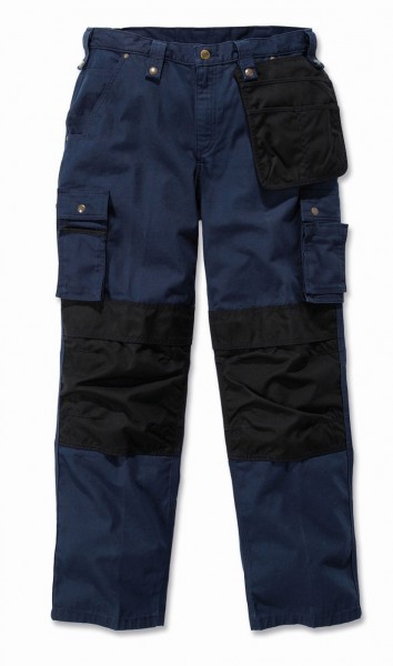 Carhartt Multi Pocket Ripstop Pant in navy - front