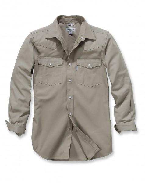 Carhartt Ironwood Twill Work Shirt in khaki