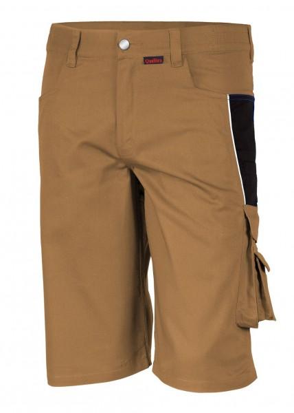 Qualitex - Pro Shorts in khaki-schwarz