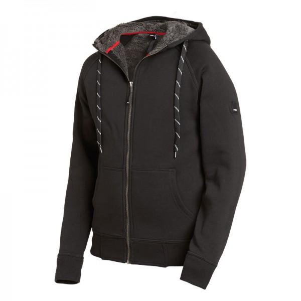 FHB® JÖRG gefütterte Sweater-Jacke mit Kapuze schwarz