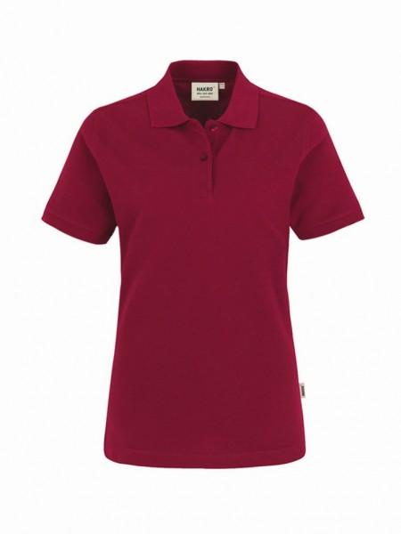 HAKRO® Damen-Poloshirt Top weinrot - Front