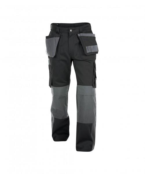 DASSY Seattle Multitaschen-Bundhose mit Kniepolstertaschen schwarz/grau - Front