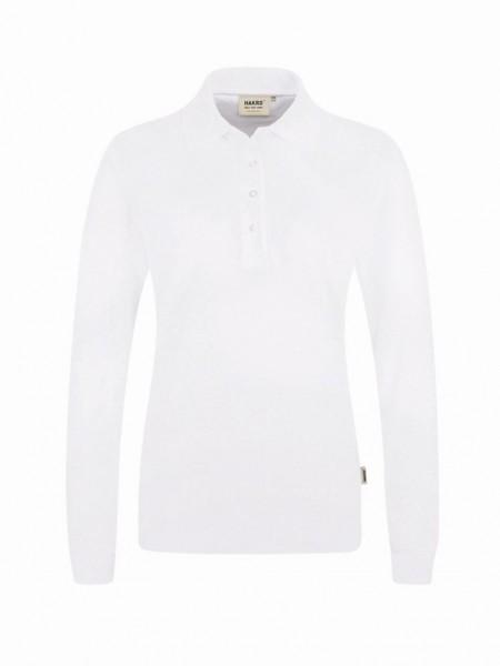HAKRO® Damen-Longsleeve-Poloshirt Performance weiß - Front