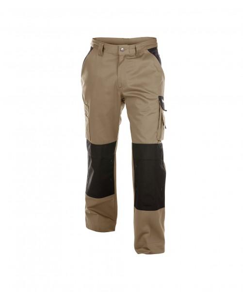 DASSY Boston Zweifarbige Bundhose mit Kniepolstertaschen khaki/schwarz - Front