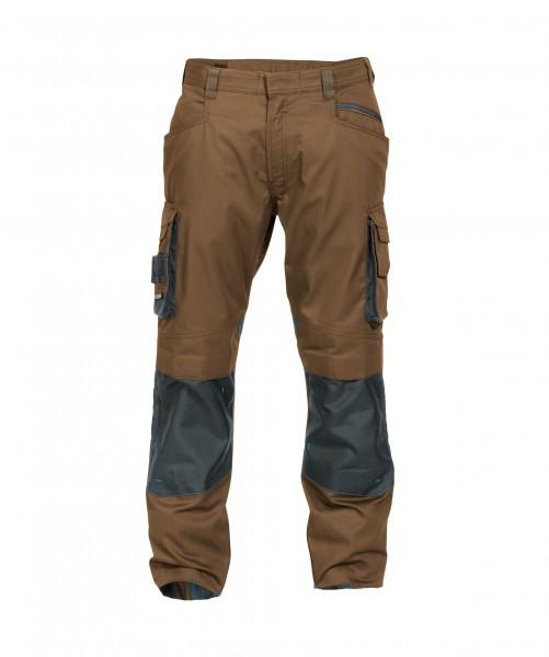 DASSY Nova zweifarbige Bundhose mit Kniepolstertaschen braun/grau - Front
