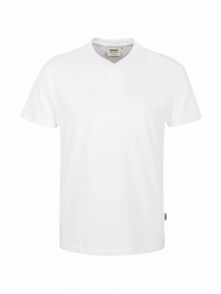 HAKRO® V-Shirt Classic weiß - Front