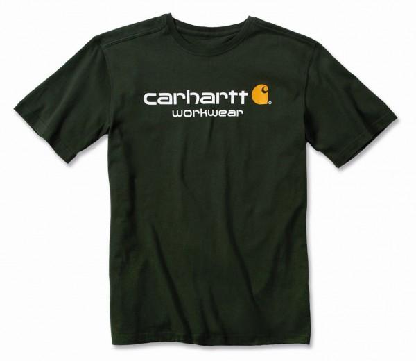 Carhartt Core Logo Short Sleeve T-Shirt in dufflebag green