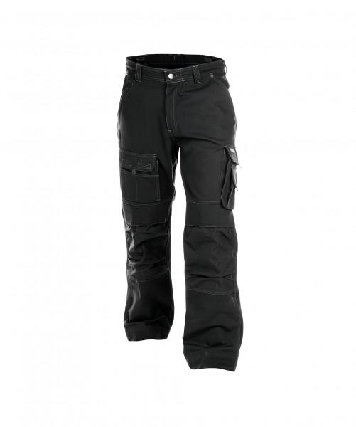 DASSY Canvas Bundhose mit Kniepolstertaschen schwarz - Front