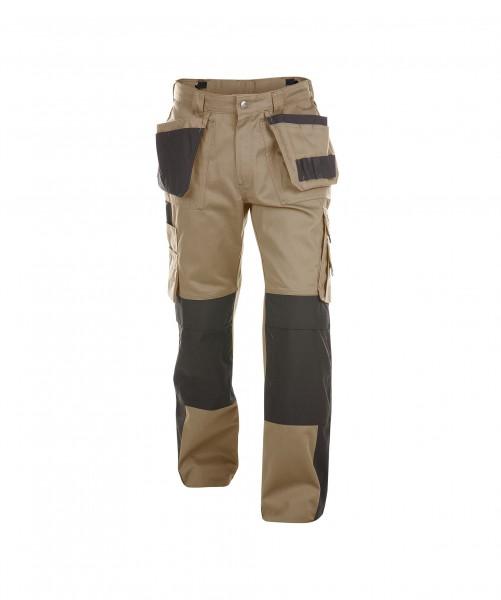 DASSY Seattle Multitaschen-Bundhose mit Kniepolstertaschen khaki/schwarz - Front