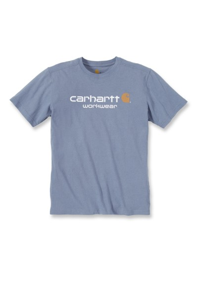 Carhartt Core Logo Short Sleeve T-Shirt in flint stone