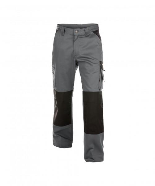 DASSY Boston Zweifarbige Bundhose mit Kniepolstertaschen grau/schwearz - Front