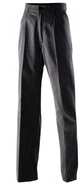 Exner Herrenkochhose Nadelstreifen schwarz-weiß