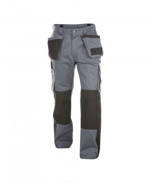 DASSY Seattle Multitaschen-Bundhose mit Kniepolstertaschen grau/schwarz - Front