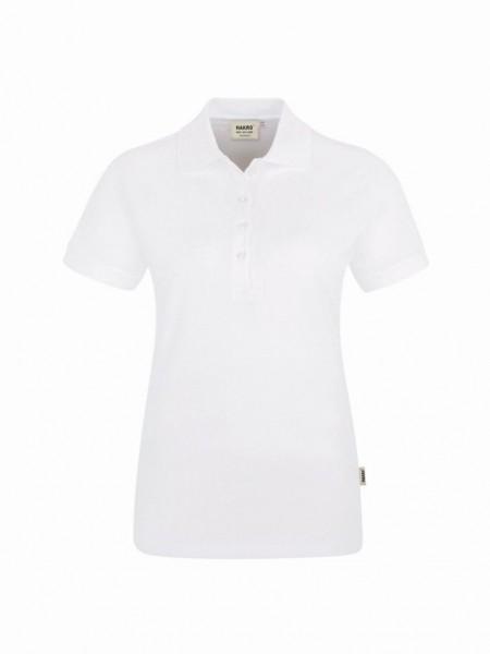 HAKRO® Damen-Poloshirt Stretch weiß - Front